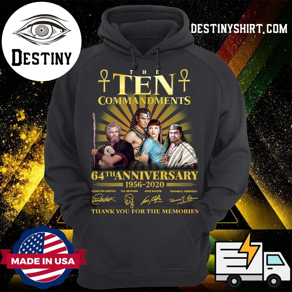 The Commandments 64th anniversary 1956 2020 thank you for the memories s Hoodie