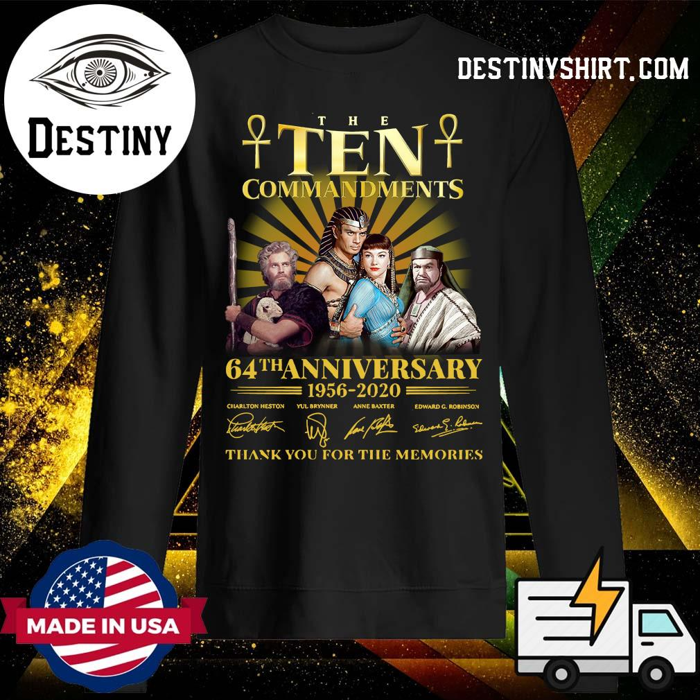 The Commandments 64th anniversary 1956 2020 thank you for the memories s Sweater