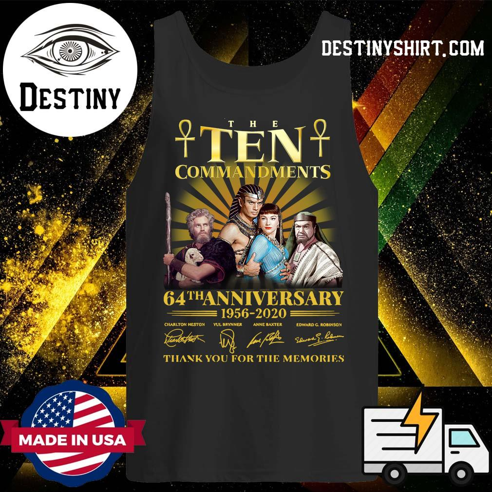 The Commandments 64th anniversary 1956 2020 thank you for the memories s Tank-Top